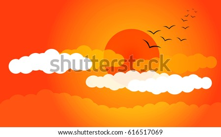 sunset sky background with