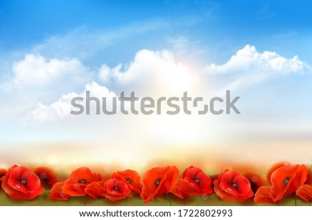 sunset sky background with red