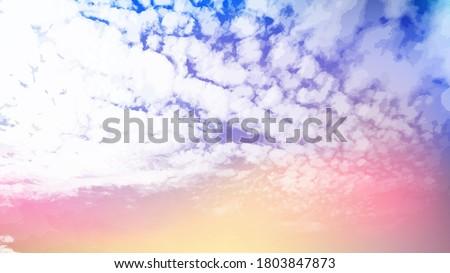 sunset sky vector backgound