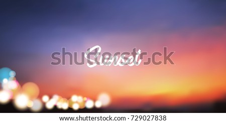 sunset vector background