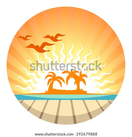 sunset view in the pier with a