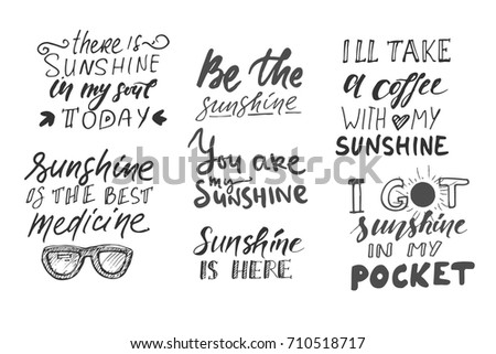 sunshine hand lettering quotes...