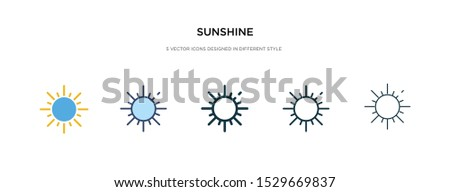 sunshine icon in different