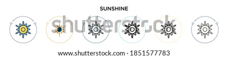 sunshine icon in filled  thin