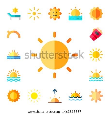 sunshine icon set 17 flat