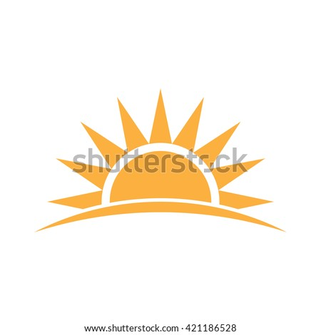 sunshine logo vector graphic