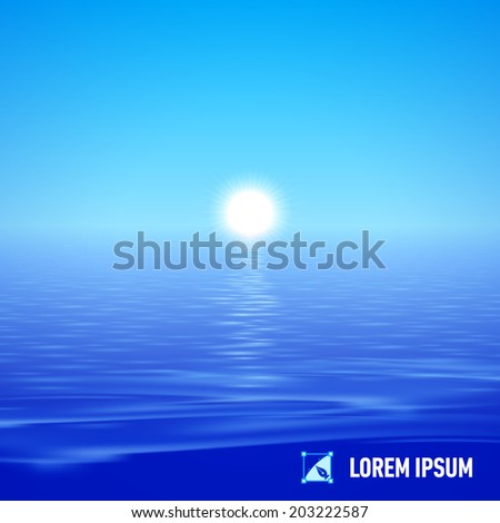 sunshine over deep blue water