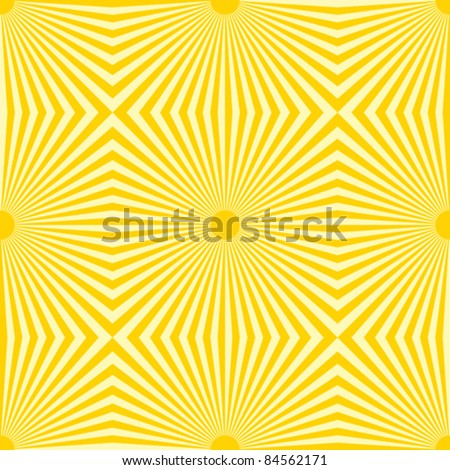 Sunshine seamless pattern, vector background.