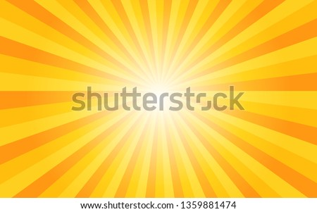 Sunshine vector background with light gradient. Abstract yellow wallpaper for banner,ad,social media and template. EPS10