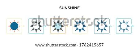 sunshine vector icon in 6