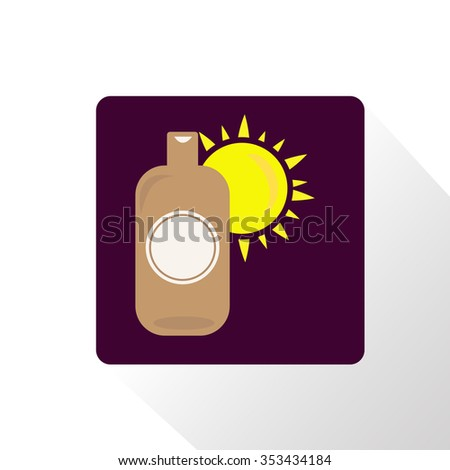 suntan cream icon