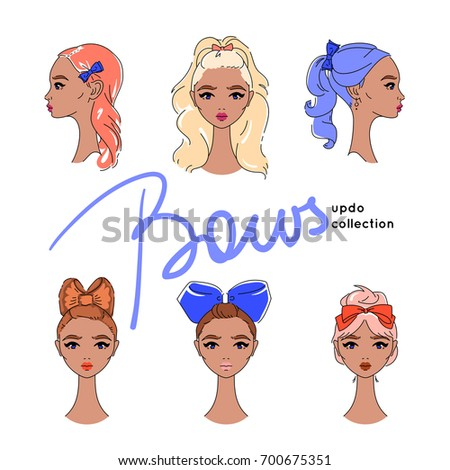 suntanned girls with hair updos