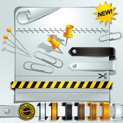 Super background with lot of design elements useful for your layout, vector illustration.