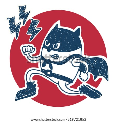 super boy angry vector