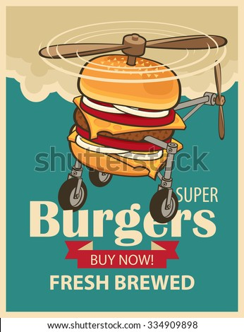 super burger with wheels and a