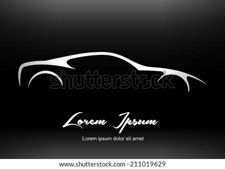 super car silhouette