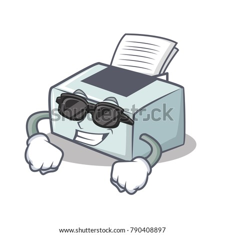 super cool printer character