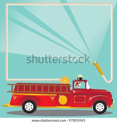 super cute firetruck with...