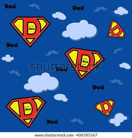 super dad design and mustaches
