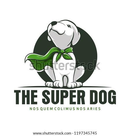 Super Dog Animal mascot Logo