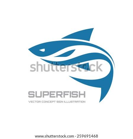 super fish   vector logo