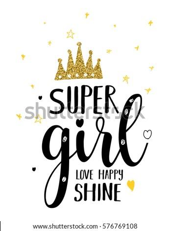 super girl typography
