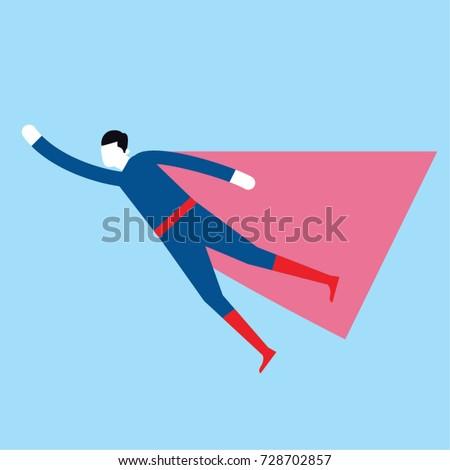 super hero as a man wearing