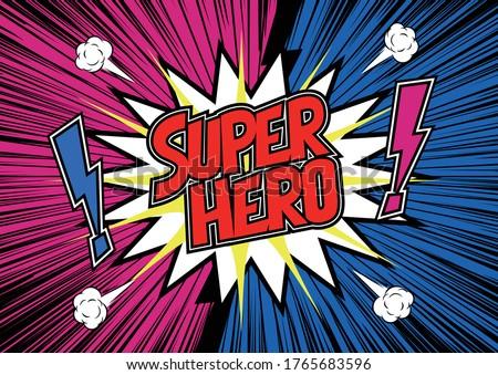 super hero banner template