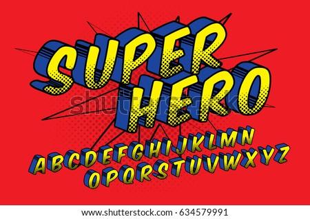 super hero  comic style