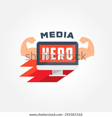 super hero display logo