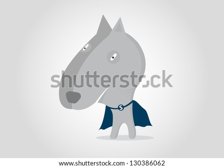 Super Hero Dog pitbull cartoon