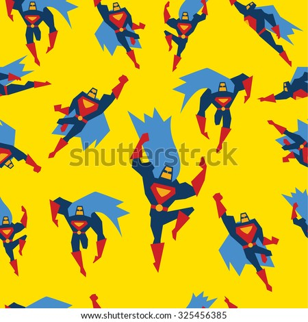 super hero in different poses