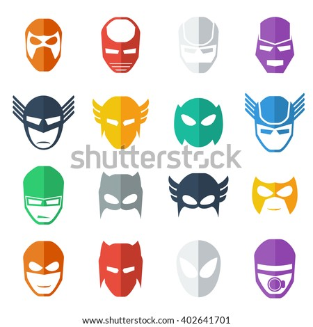 super hero mask icon  colorful