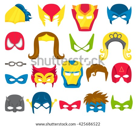 super hero masks set superhero