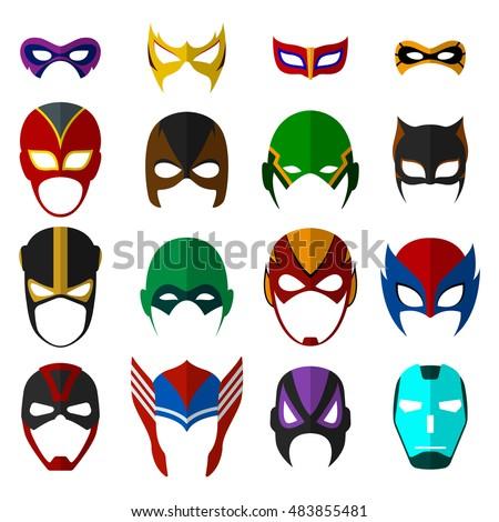 Super hero masks set. Vector EPS10 illustration