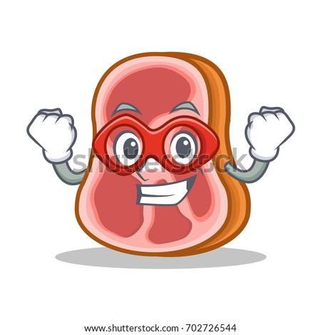 super hero meat character