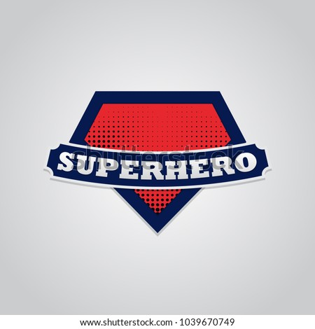 Stock Photo Super hero power full typography, t-shirt graphics, vectors.