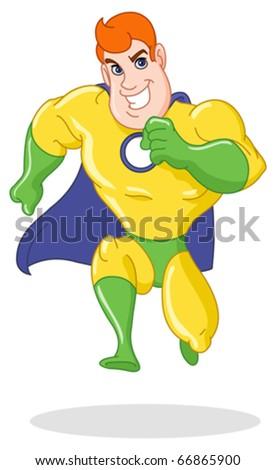 Super hero running