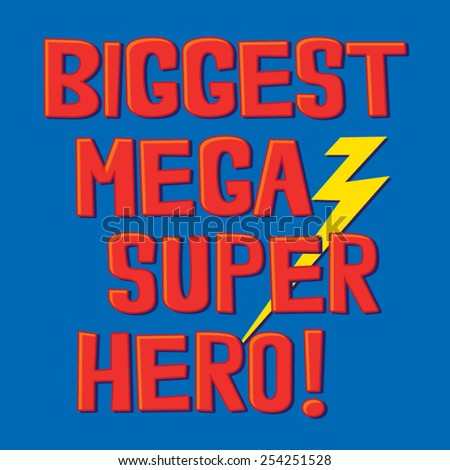 super hero typography  t shirt