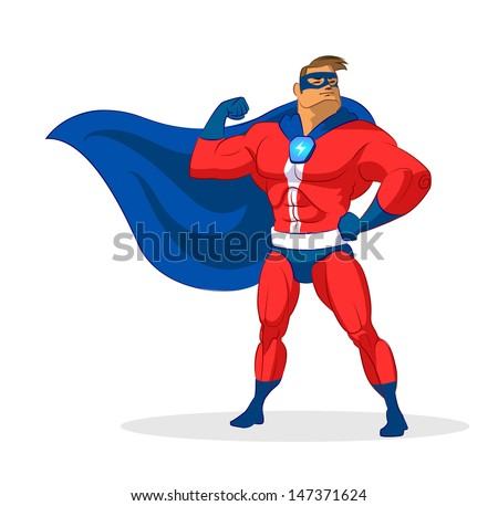 Super hero. Vector illustration on a background