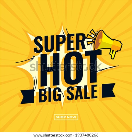 Super hot big sale abstract comic boom sale banner yellow