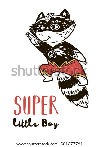 super little boy super raccoon