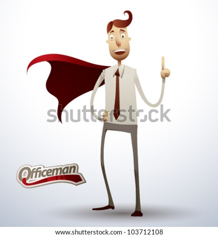 super office man. vector 1
