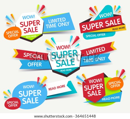 Shutterstock Super sale banner. Sale and discounts. Vector illustration