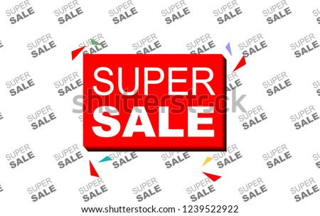 Super Sale Banner Template With Backdrop