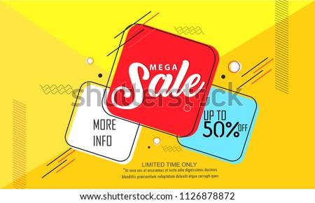 Super Sale, Big Sale this weekend special offer banner, Vector illustration