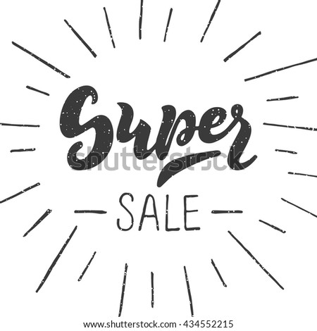super sale   handwritten...