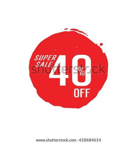 Super Sale 40 Off lettering