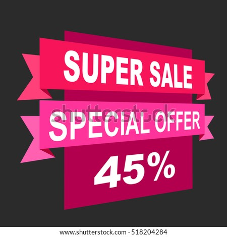 Super sale, paper banner, sale background, big sale,poster sale #518204284