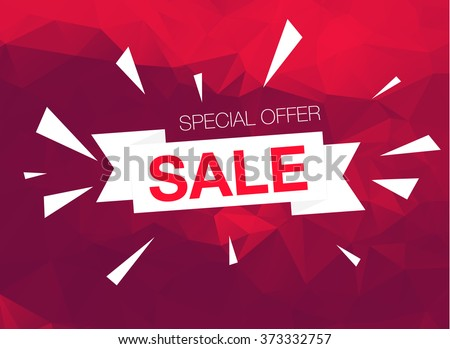 Super Sale Special Offer banner on red background